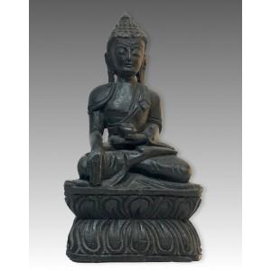 Buddha Śākyamuni, in legno