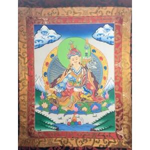 Guru Padmasambhava con broccato