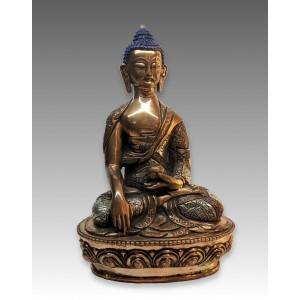 Buddha Śākyamuni, statua in rame