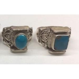 Anello in argento con turchese