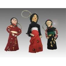 Portachiavi con bambola tradizionale