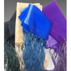 Sciarpa in seta di due colori