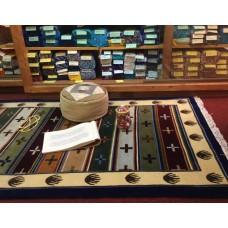 Tappeto tibetano con disegni tradizionali tibetani