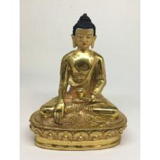 Buddha Śākyamuni, statua in lega di vari metalli