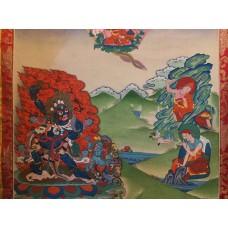 Padmasambhava come Senge Dadog (voce di leone)