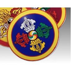 Doppio Dorje ricamato in stoffa