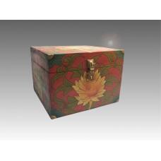Scatola in legno con loto