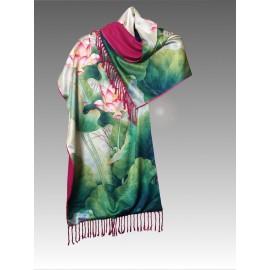 Scialle in seta e lana