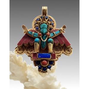 Garuda dorato, pendente