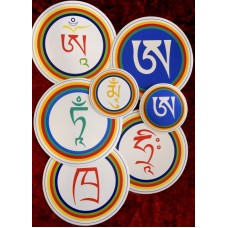 Adesivi con lettere tibetane (grande)