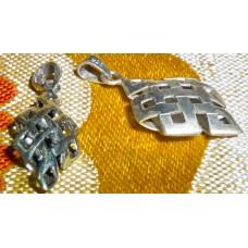 Nodo infinito in argento, pendente piccolo