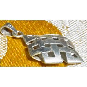 Nodo infinito in argento, pendente