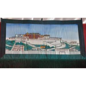 Arazzo in seta col palazzo del Potala