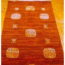 Tappeto tibetano con simboli di lunga vita