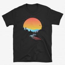 Maglietta con Merigar al tramonto